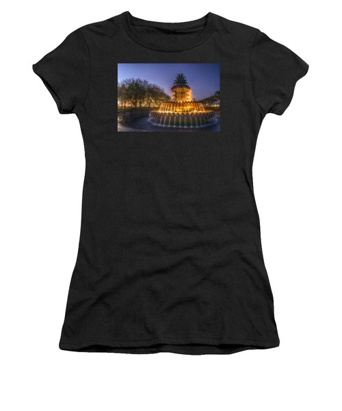 Charleston Pineapple Fountain Women's T-Shirt (Athletic Fit)