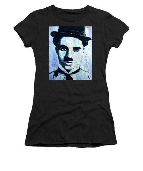 Charlie Chaplin Little Tramp Portrait Women's T-Shirt