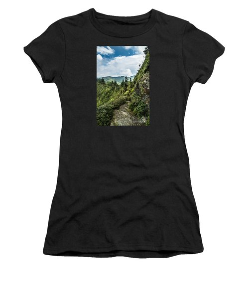 Women's T-Shirt (Junior Cut) featuring the photograph Charlies Bunion Trail by Debbie Green