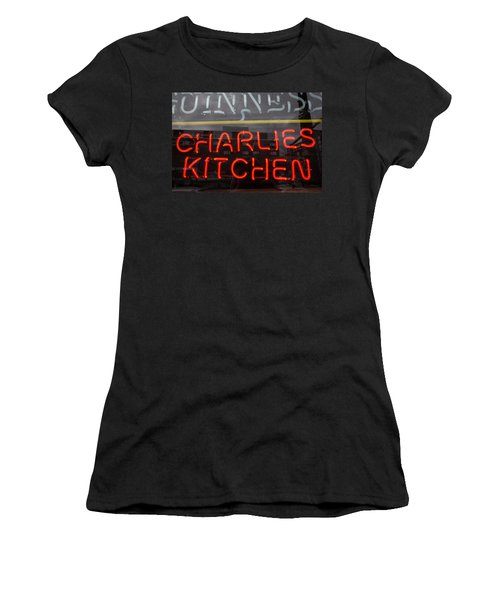 Charlies Kitchen Women's T-Shirt (Athletic Fit)