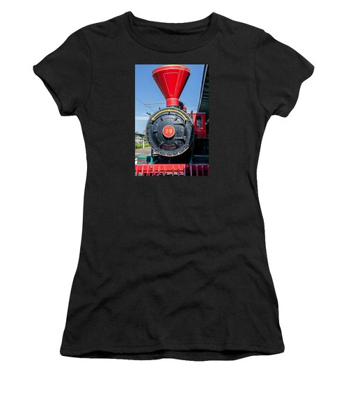 Chattanooga Choo Choo Steam Engine Women's T-Shirt (Junior Cut) by Susan  McMenamin