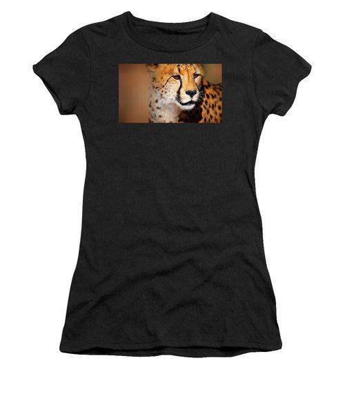 Cheetah Portrait Women's T-Shirt (Athletic Fit)