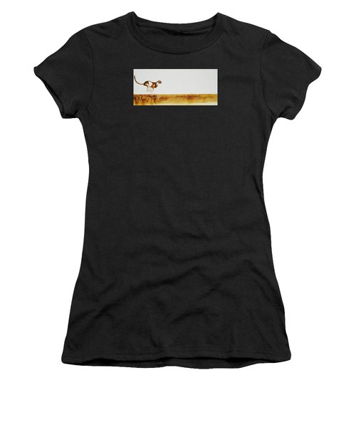 Cheetah Race - Original Artwork Women's T-Shirt (Athletic Fit)