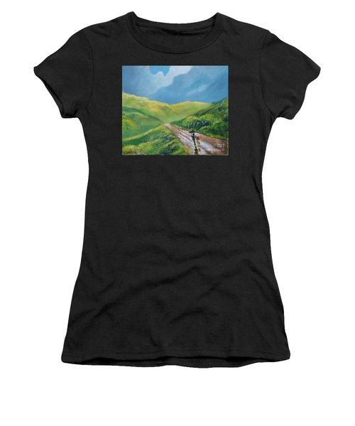 Chemin Sous Une Pluie Tropicale Women's T-Shirt