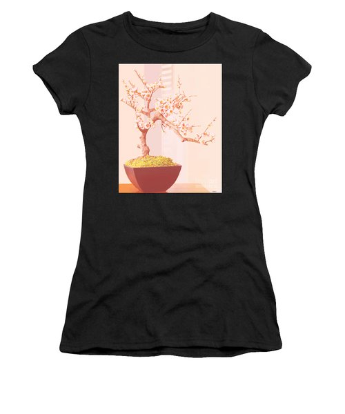 Cherry Bonsai Tree Women's T-Shirt