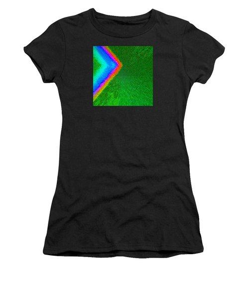 Chevron Rainbow C2014 Women's T-Shirt (Athletic Fit)