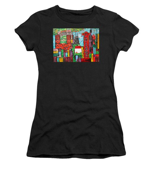 Chicago - City Of Fun - Sold Women's T-Shirt (Junior Cut) by George Riney