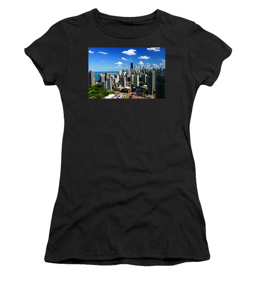 Chicago Buildings Skyline Clouds Women's T-Shirt