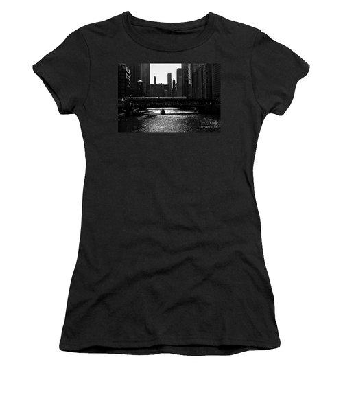 Chicago Morning Commute - Monochrome Women's T-Shirt