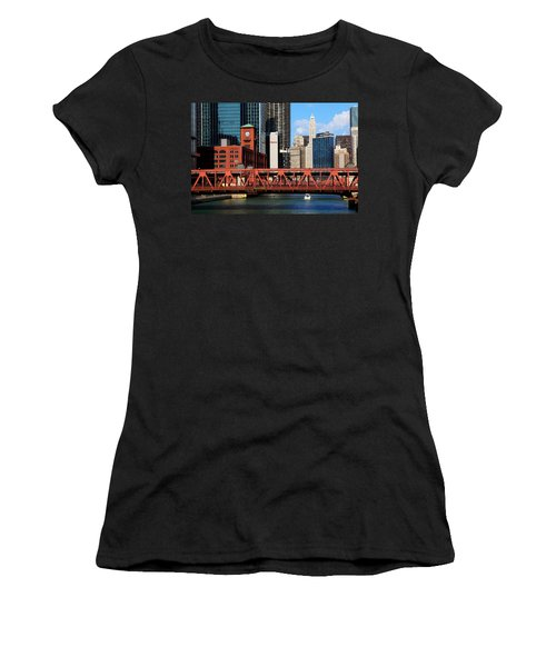 Chicago Skyline River Bridge Women's T-Shirt