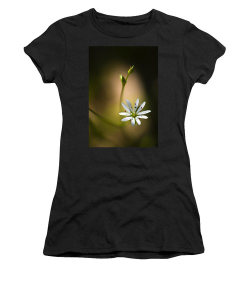 Chickweed Blossom And Bud Women's T-Shirt (Junior Cut) by Marty Saccone