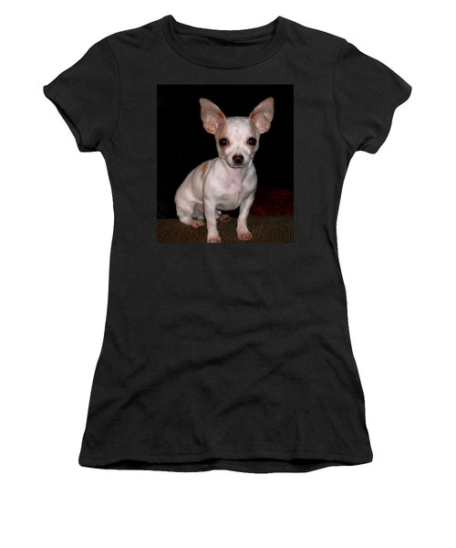 Women's T-Shirt (Junior Cut) featuring the photograph Chihuahua Puppy by Maria Urso