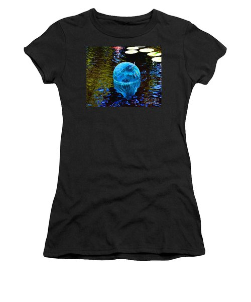 Artsy Blue Glass Float Women's T-Shirt (Athletic Fit)