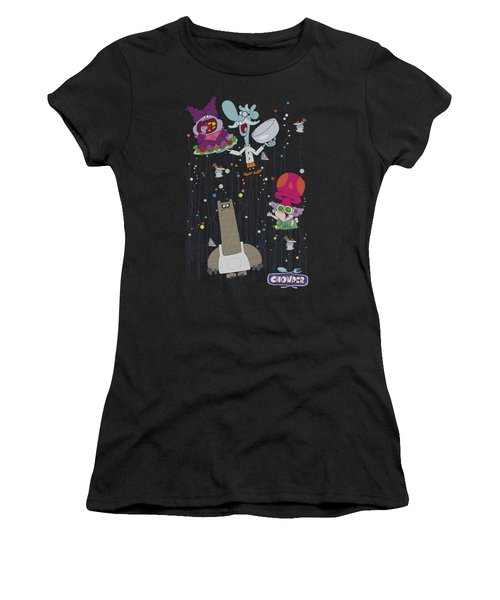Chowder - Dots Collage Women's T-Shirt (Athletic Fit)