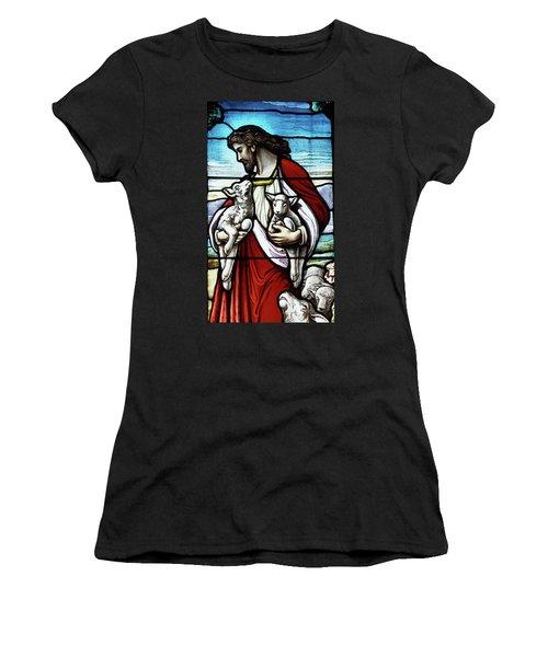 Christ The Good Shepherd With His Flock Women's T-Shirt