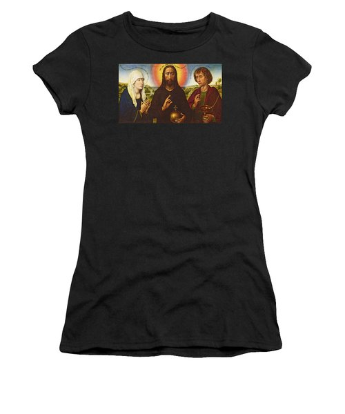 Christ The Redeemer With The Virgin And St. John The Evangelist, Central Panel From The Triptych Women's T-Shirt