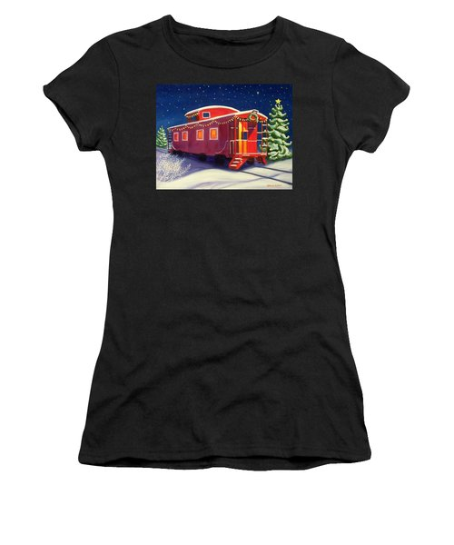Christmas Caboose Women's T-Shirt (Athletic Fit)