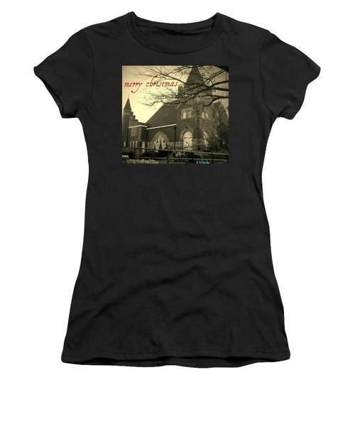 Christmas Chapel Women's T-Shirt (Junior Cut)