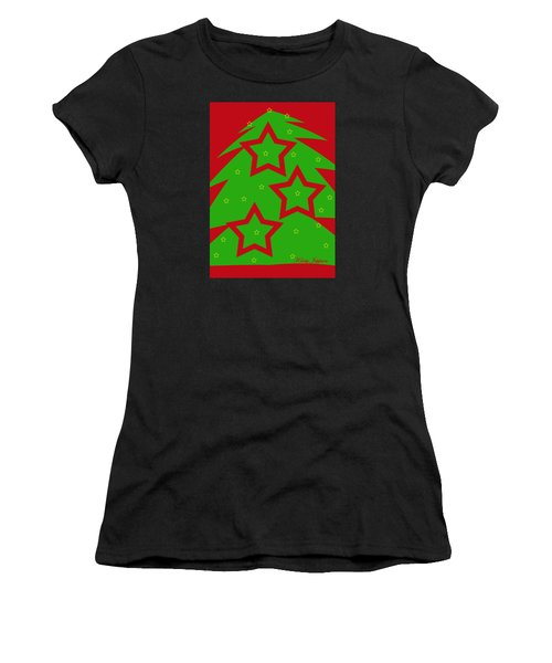 Christmas Tree Stars Women's T-Shirt (Athletic Fit)