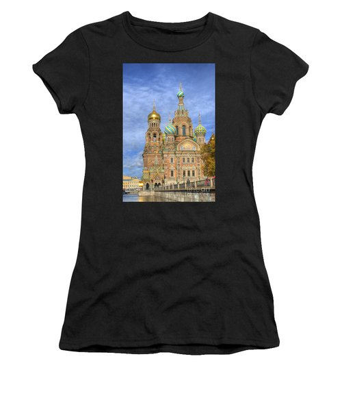 Church Of The Saviour On Spilled Blood. St. Petersburg. Russia Women's T-Shirt