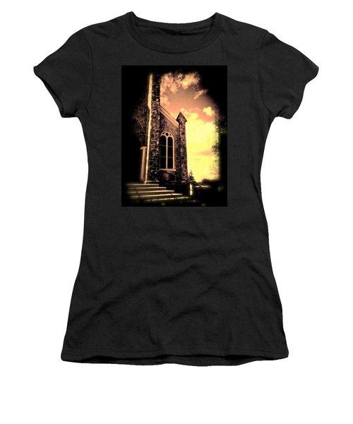 Church Vignette Against Sky Women's T-Shirt (Athletic Fit)