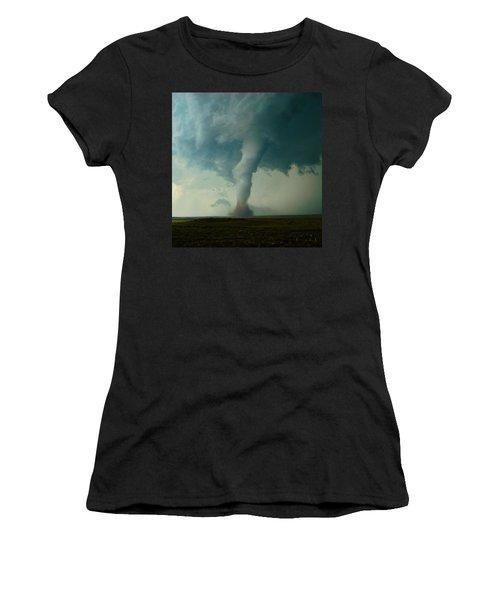 Churning Twister Women's T-Shirt (Junior Cut) by Ed Sweeney