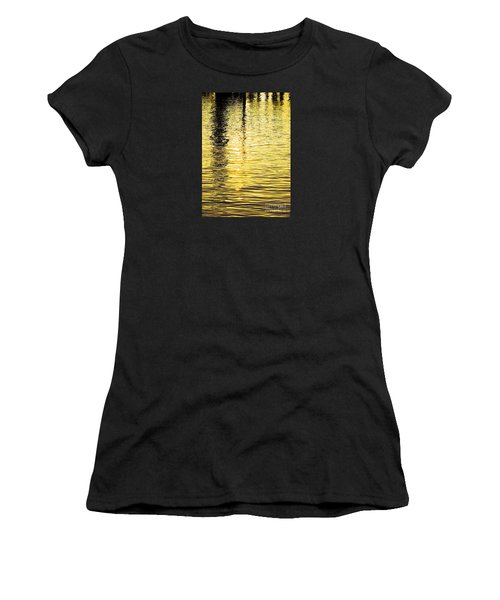 Citrine Ripples Women's T-Shirt (Junior Cut) by Chris Anderson