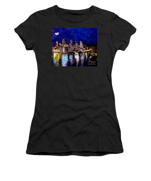 City Of Pittsburgh At The Point Women's T-Shirt (Athletic Fit)