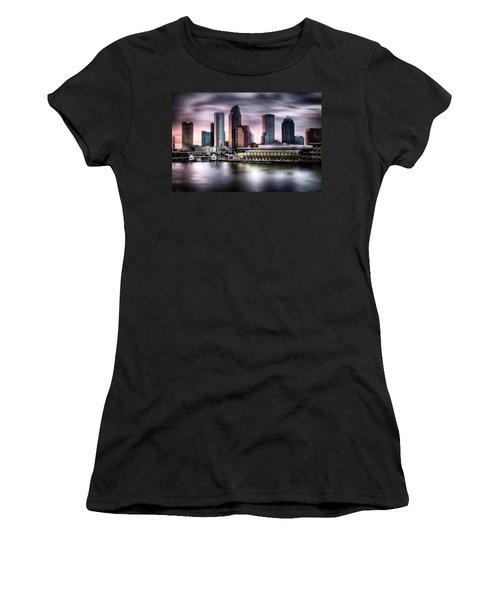City Of Tampa Skyline At Dusk In Hdr Women's T-Shirt (Junior Cut)