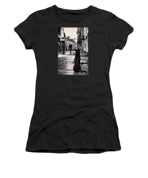 City Streets And The Theory Of Waiting Women's T-Shirt (Athletic Fit)