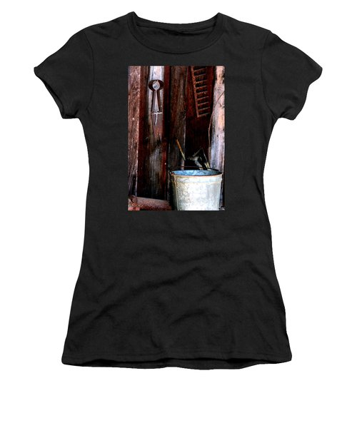 Women's T-Shirt (Junior Cut) featuring the photograph Clippers And The Bucket by Lesa Fine