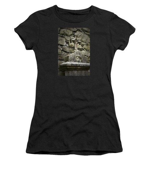 Cloister Cross At Jerpoint Abbey Women's T-Shirt (Junior Cut) by Nadalyn Larsen