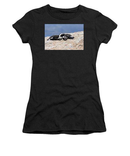 Close Bonds, African Penguin Women's T-Shirt