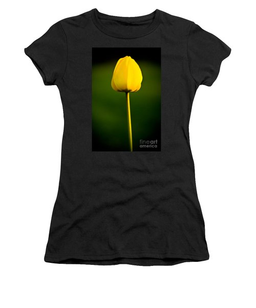 Closed Yellow Flower Women's T-Shirt