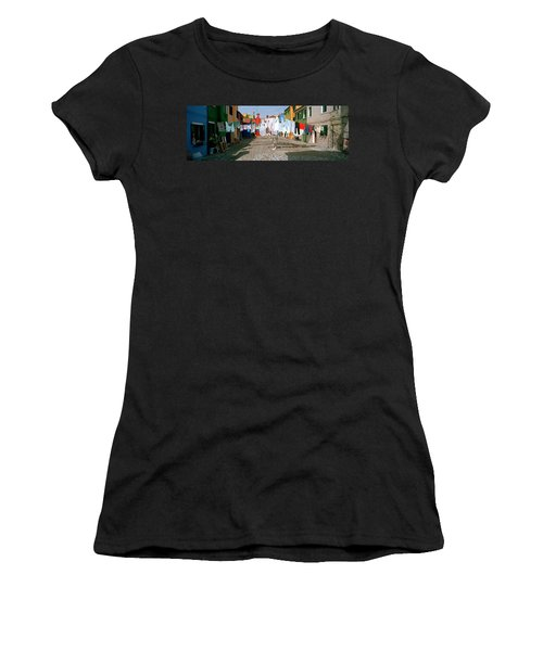 Clothesline In A Street, Burano Women's T-Shirt