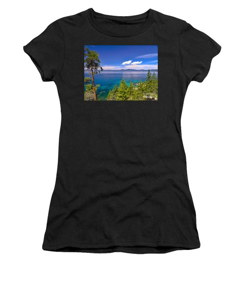 Clouds And Silence - Lake Tahoe Women's T-Shirt (Athletic Fit)