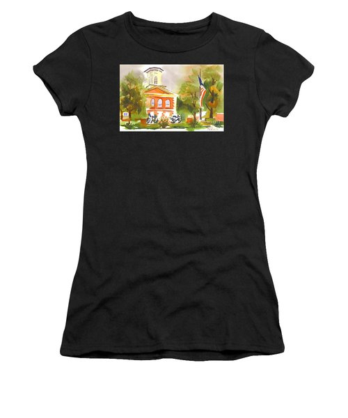 Cloudy Day At The Courthouse Women's T-Shirt