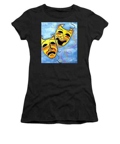 Comedy And Tragedy Women's T-Shirt (Athletic Fit)
