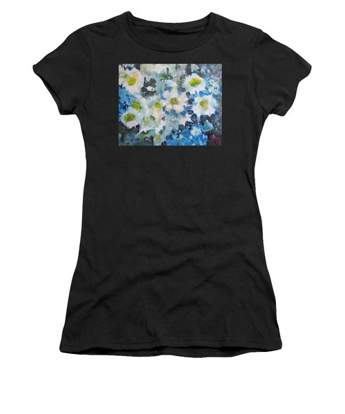 Cluster Of Daisies Women's T-Shirt (Athletic Fit)