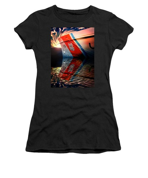 Women's T-Shirt (Athletic Fit) featuring the photograph Coast Guard Uscg Alert Wmec-630 by Aaron Berg