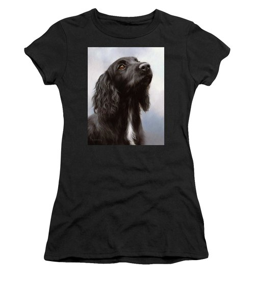 Cocker Spaniel Painting Women's T-Shirt (Athletic Fit)