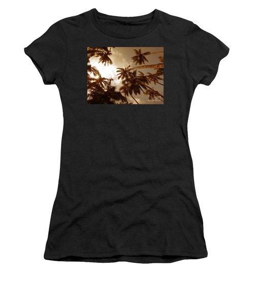 Coconut Palms Women's T-Shirt (Athletic Fit)