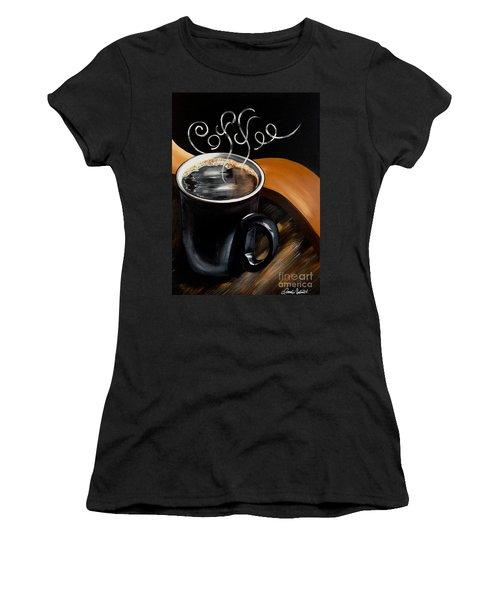 Coffee Break Women's T-Shirt (Junior Cut) by Dani Abbott