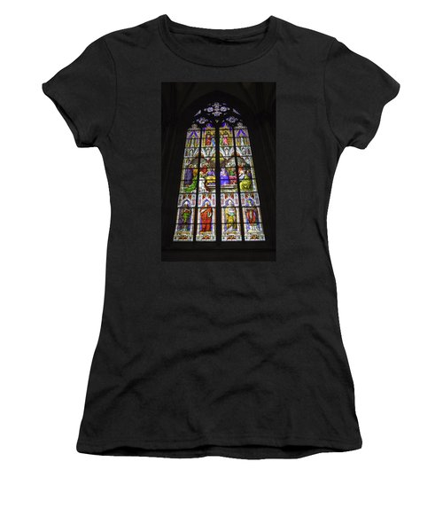 Cologne Cathedral Stained Glass Window Of Pentecost Women's T-Shirt (Athletic Fit)