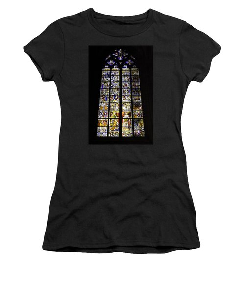 Cologne Cathedral Stained Glass Window Of St Peter And Tree Of Jesse Women's T-Shirt (Athletic Fit)