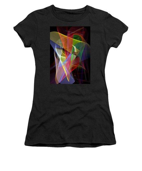 Women's T-Shirt (Junior Cut) featuring the digital art Color Symphony by Rafael Salazar