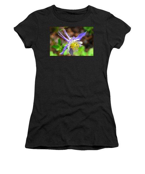 Colorado Blue Columbine Flower Women's T-Shirt (Athletic Fit)