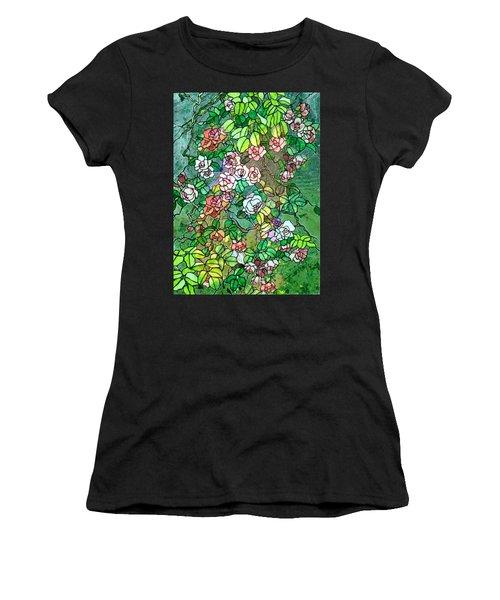 Colored Rose Garden Women's T-Shirt