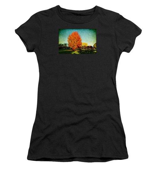 Colorful Autumn Women's T-Shirt (Junior Cut) by Milena Ilieva