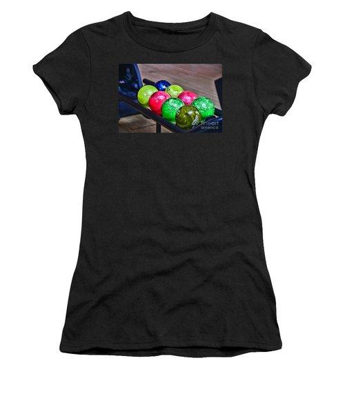 Colorful Bowling Balls Women's T-Shirt